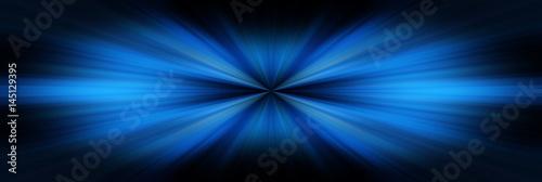 Photo Esplosione di luce blu su sfondo nero