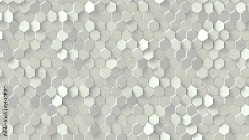 Obraz na płótnie z wzorem sześciokątnych płytek 3D