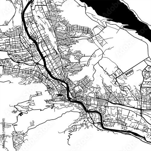 Fotografie, Obraz Tbilisi Georgia Vector Map