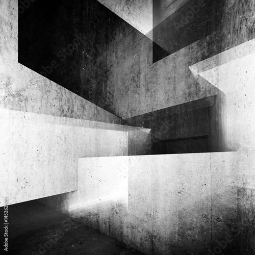 Streszczenie białe tło wnętrze betonu 3 d