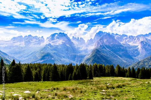 Canvas Print Brenta Dolomites mountain range