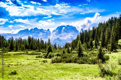 Wallpaper Mural Brenta Dolomites mountain range