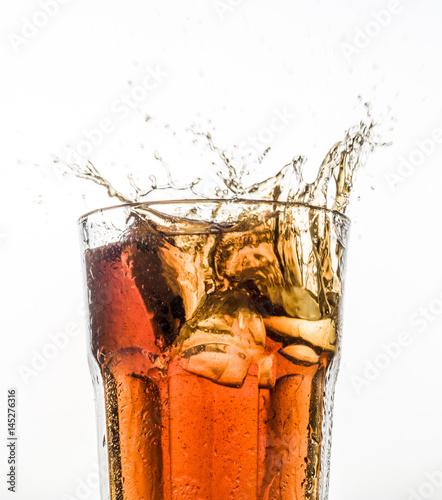 Obraz na plátně a glass with drink