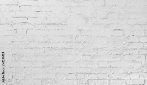 Plakat Miejski mur z białej cegły