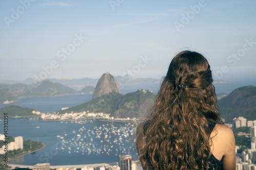 girl looking at |Rio de Janeiro