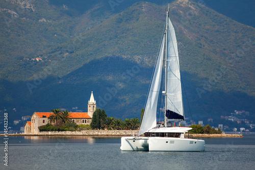 Obraz na płótnie Sailing catamaran