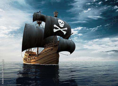 Fotografia Pirate Ship On The High Seas