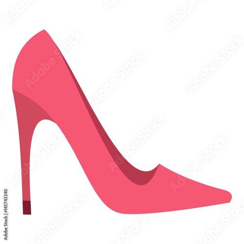 Obraz na plátne Pink high heel shoe icon isolated