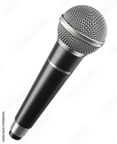 Obraz na płótnie Wireless microphone isolated on white background