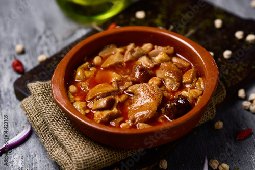 spanish callos, a typical stew with beef tripe