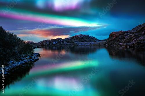 Canvas Print Aurora Borealis - Amazing Northern Lights