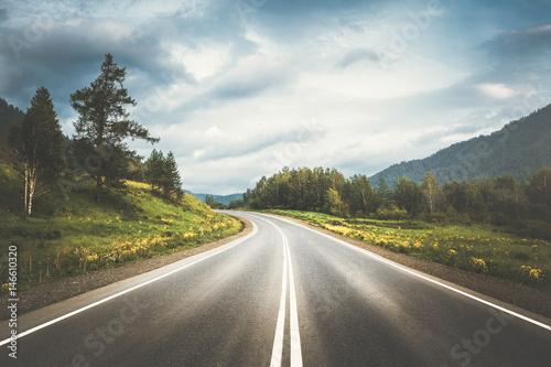 Fototapeta country highway