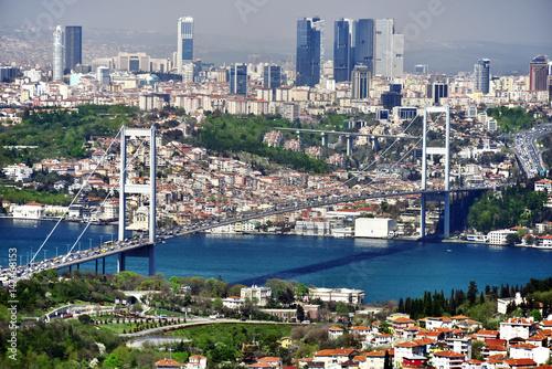 Panoramic view of Istanbul with the Bosphorus Bridge Fototapeta