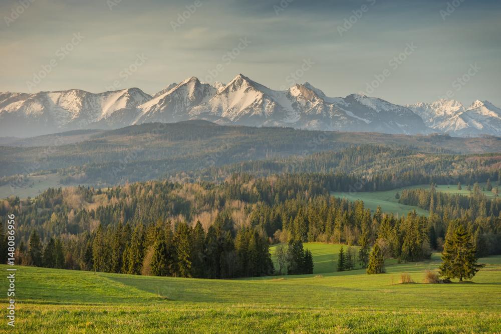 Tatras mountains landscape - obrazy, fototapety, plakaty