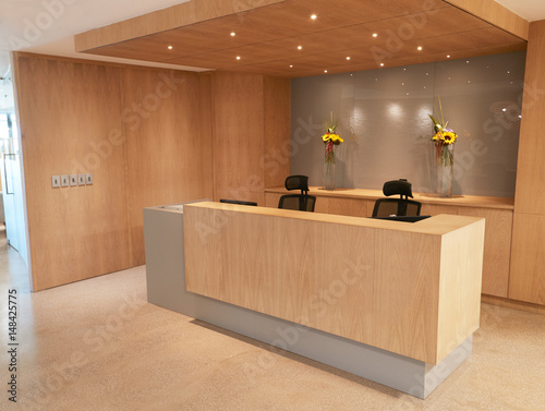 Canvas Print Reception Area Of Modern Office With No People