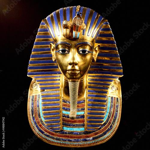 Replica of funerary mask of Tutankhamun Fototapet