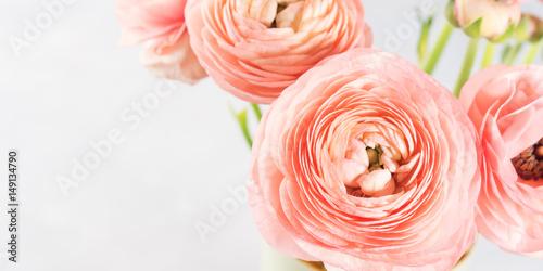 Photo Beautiful pink ranunculus bouquet