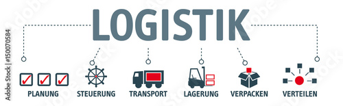 Photographie Banner Logistik Piktogramme