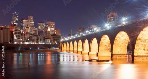 Fotografia Saint Paul Minnesota Capital City Skyline Mississippi River Ramsey County