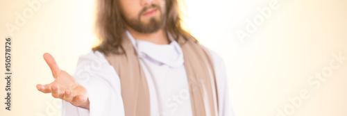 Fotografie, Obraz Jesus reaching out his hand