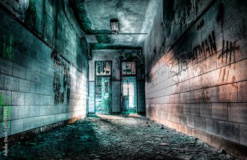 Tela Hallway in an old Boys School
