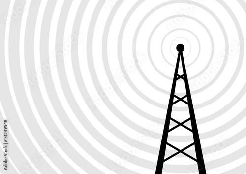 Obraz na płótnie Black transmitter vector icon