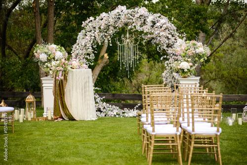 Original wedding floral decoration