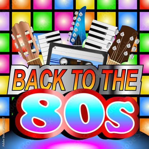 Plakat Back To The Eighties