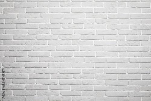 Plakat z minimalistycznym wzorem białej cegły