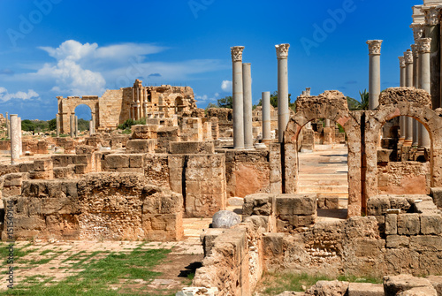 Libya Tripoli Leptis Magna Roman archaeological site Unesco World Heritage Site