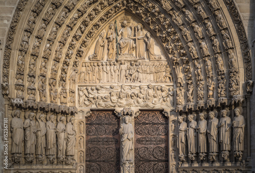 Fotografia Notre-Dame de Paris, the Portal of the Judgement