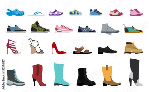 Fotografiet Collection Men's, Women's and children's footwear