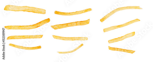 Photo French fries isolated on a white background