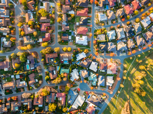Photo Aerial view of a typical suburb in Australia