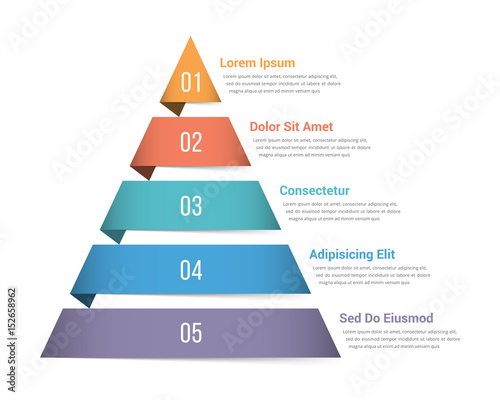 Fotografie, Obraz Pyramid Infographics