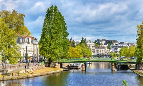 Fotografering The Erdre River in Nantes, France