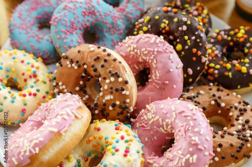 colorful donuts Fototapet