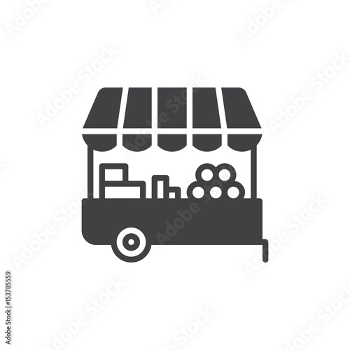 Fotografia Farmer stall icon vector, filled flat sign, solid pictogram isolated on white
