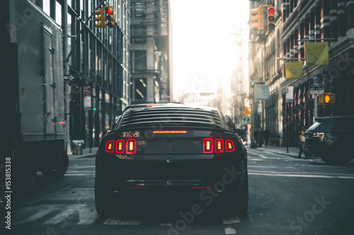 Obraz na plátně Muscle Car in the Streets