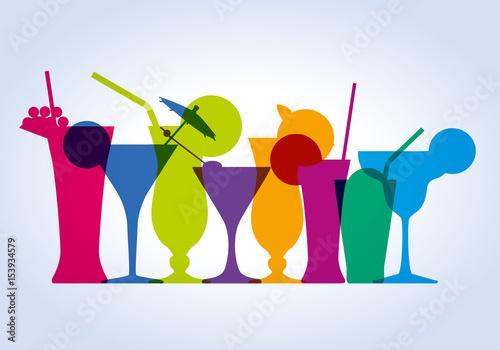 Canvas Print cocktail - verre - apéro - apéritif - boisson - alcool -bar