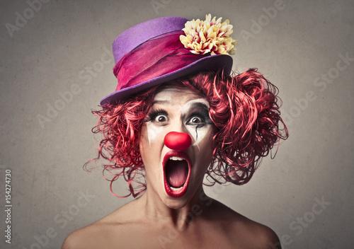 Surprised clown Fototapet