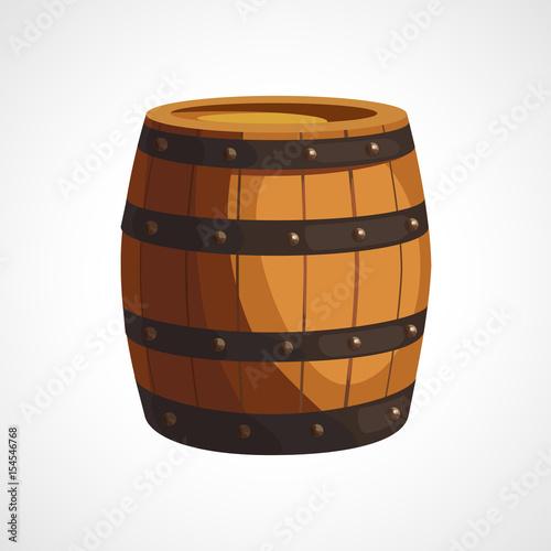Canvas-taulu Cartoon wooden barrel