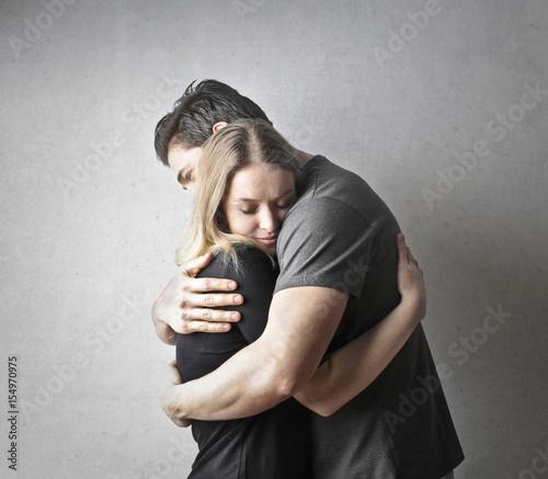 Fotografie, Tablou Lover's hug