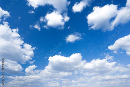 Canvas Print Blue sky and clouds