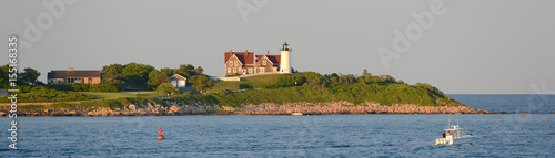 Nobska Lighthouse is located on the southwestern tip of Cape Cod, Massachusetts, USA. This historic lighthouse was built in 1876.