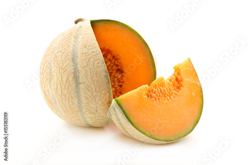 Canvas Print melon isolated on white background