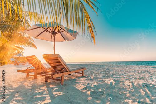 Obraz na plátně Beautiful beach background. Vacation holidays background