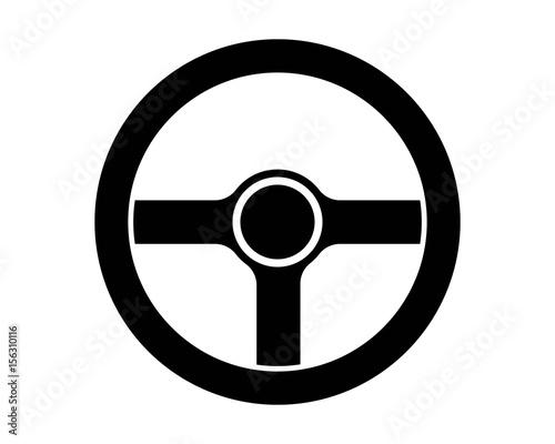 pittograma volante automobile vettoriale Fototapeta