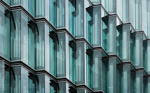 Tableau sur Toile modern office building glass facade