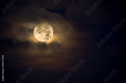 Canvas Print Amber moon